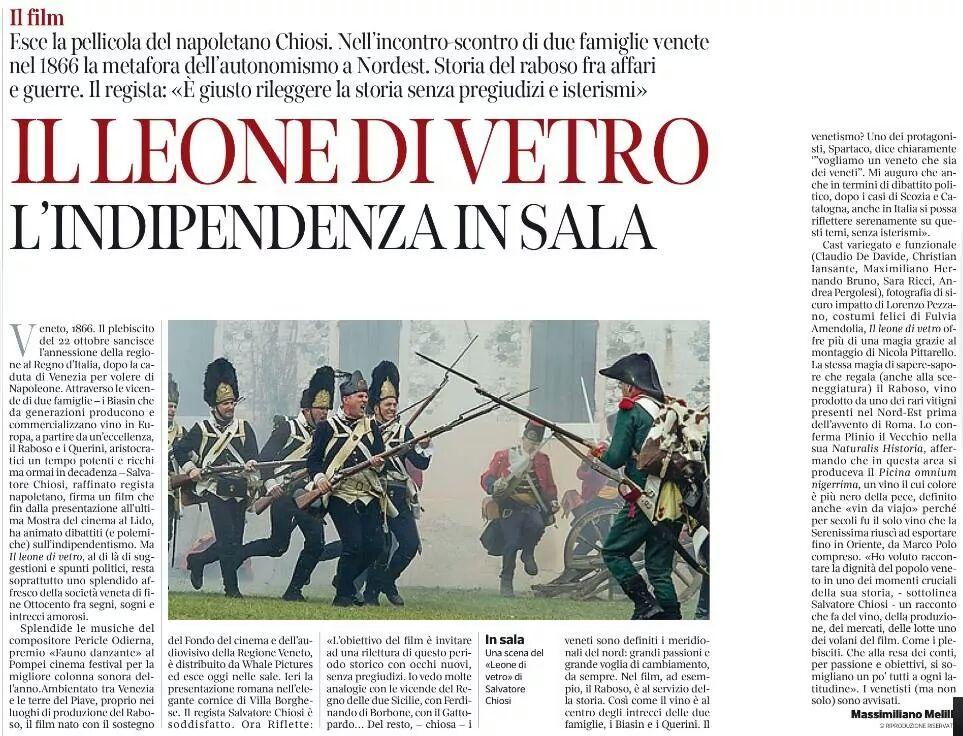 Corriere del Veneto - 13/11/2014